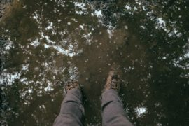 Standing in mud