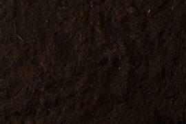 Black soil texture background top view