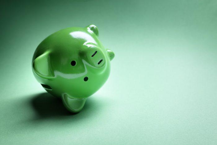 Piggy bank financial money problems